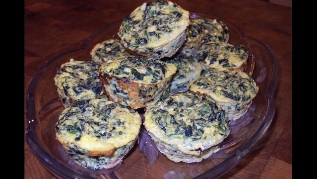 Mini Spinach and Turkey Frittatas