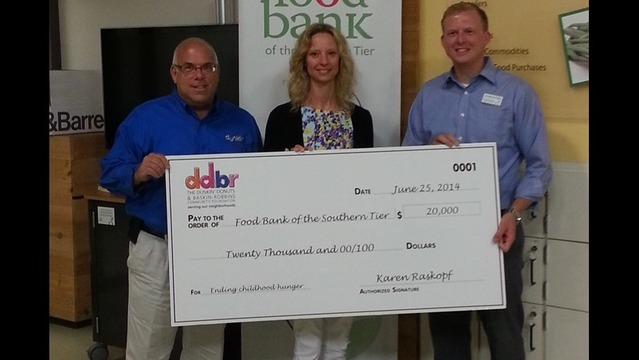 Food Bank of the Southern Tier Receives $20,000 Grant from the Dunkin' Donuts & Baskin-Robbins Community Foundation