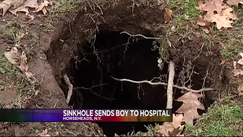 Sinkhole sends boy to hospital story mytwintiers wetm tv