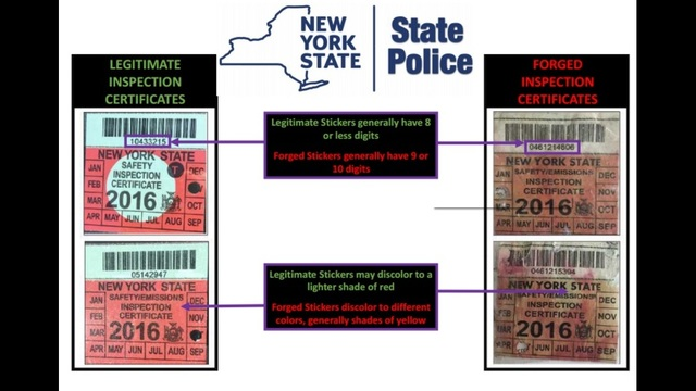 Ny inspection sticker satu sticker for New york state motor vehicle inspection
