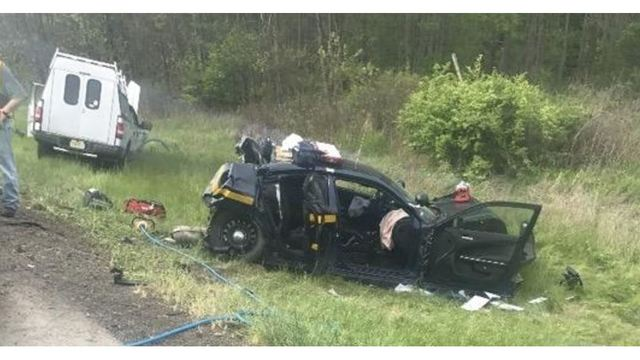 Trooper involved in serious accident on I-86 named