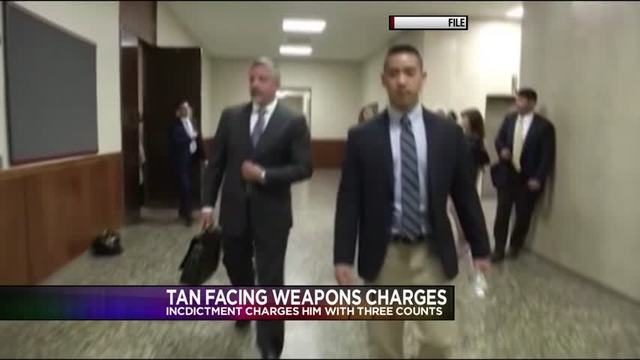 Charlie Tan in federal custody, facing federal weapon charges