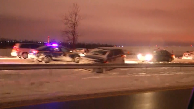 One person dead in 75-vehicle crash on Buffalo Thruway