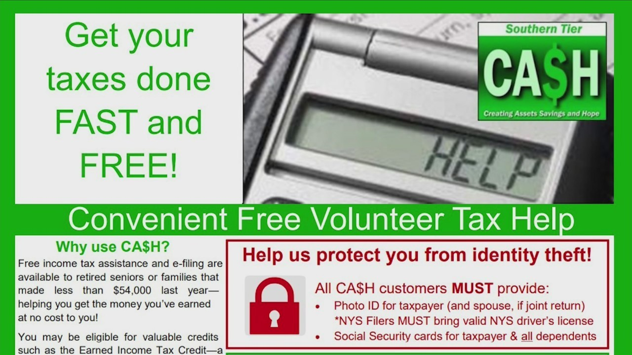 get free tax help in the southern tier