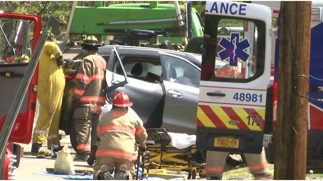 Three hospitalized after head-on crash on Route 414