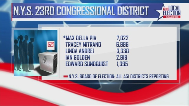 unofficial results for new york congressional primary elections