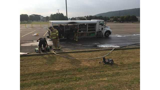 Truck Fire Knocked Down in Big Flats