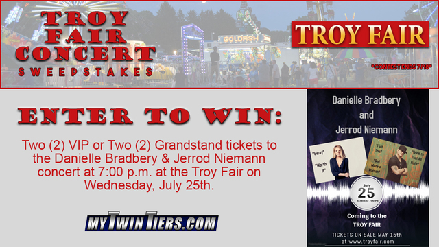 Enter to win the Troy Fair Concert Sweepstakes!