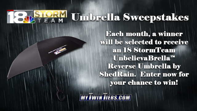 Enter to win the 18 StormTeam Umbrella Sweepstakes!