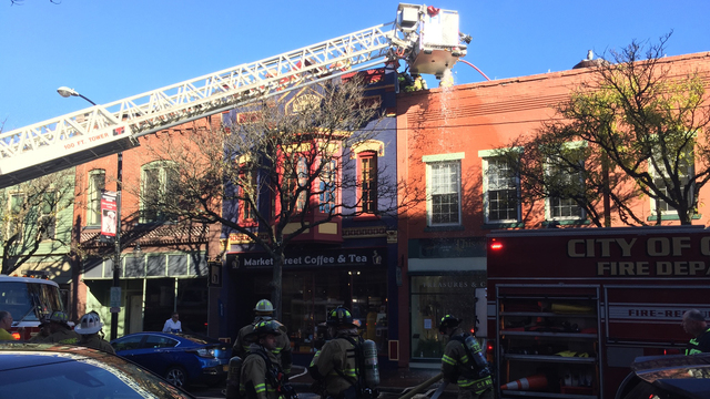Fire closes portion of Market Street in Corning