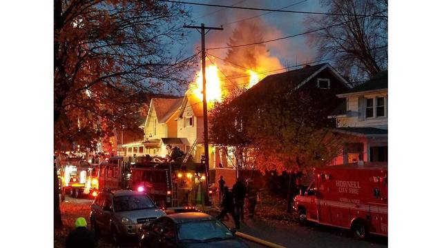 Large House Fire in Hornell