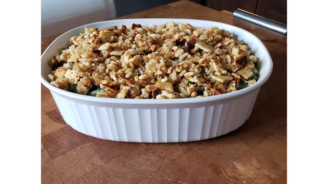 Affordable green bean casserole with options