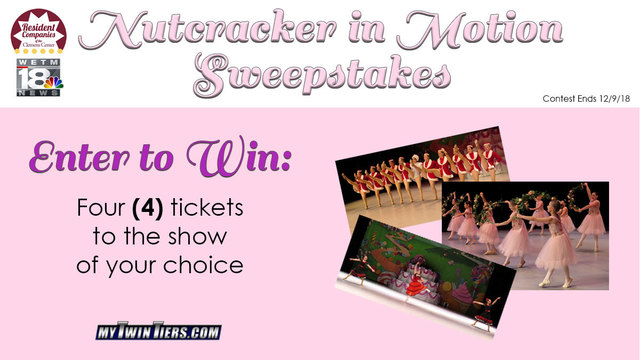 Enter the 2018 Nutcracker in Motion Sweepstakes!