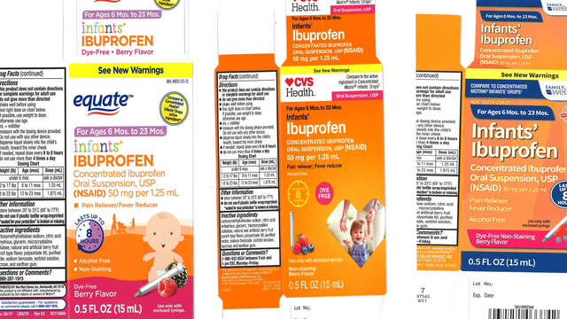 Voluntary nationwide recall issued for infant ibuprofen sold at Walmart, CVS, Family Dollar