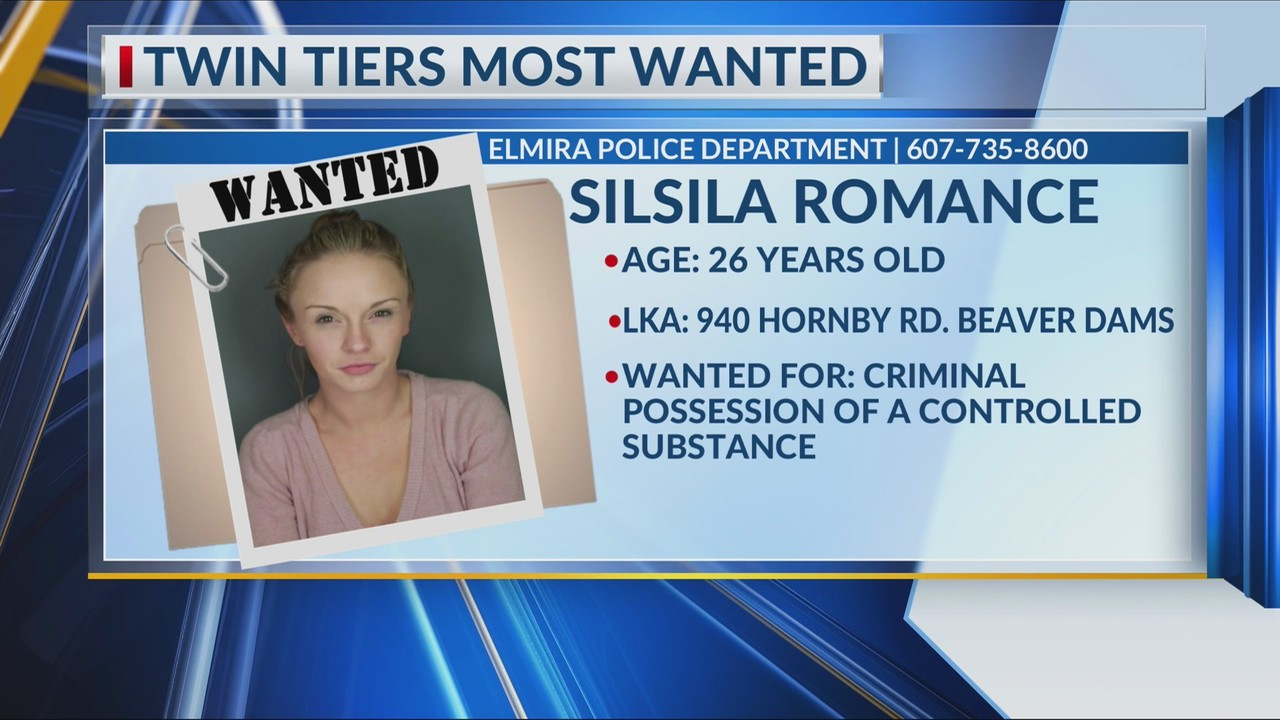 Silsila A. Romance Is Wanted By The Elmira City Police